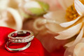 wedding rings on colorful fabric - PhotoDune Item for Sale