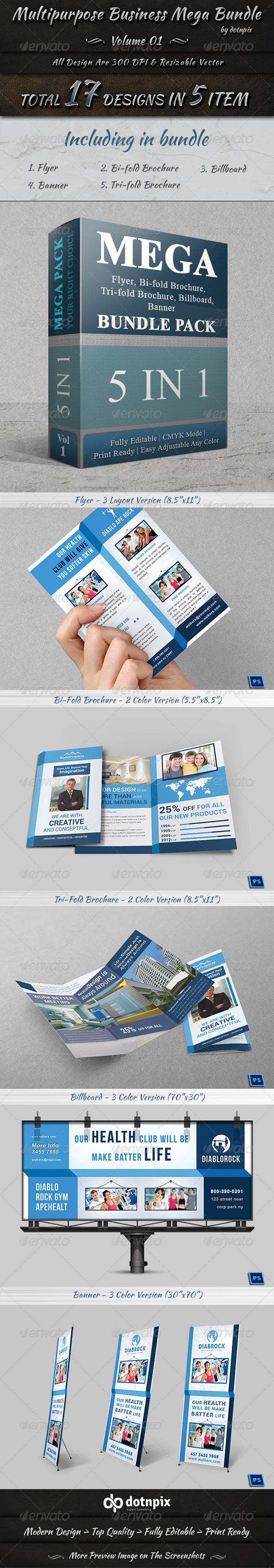 GraphicRiver Multipurpose Business Mega Bundle Volume 1 7688791