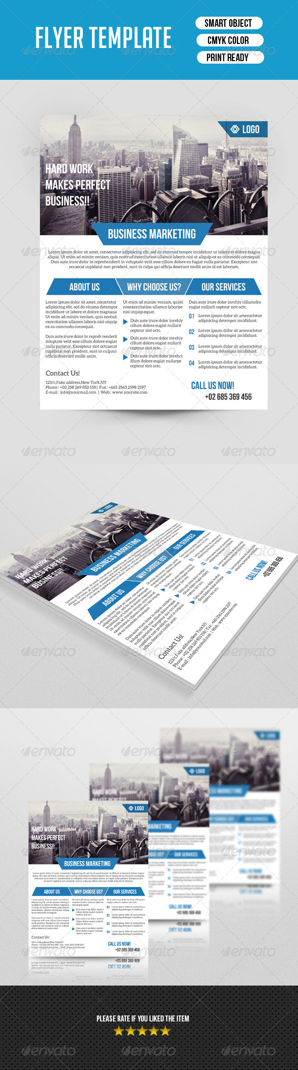 GraphicRiver Corporate Flyer Template 7688898