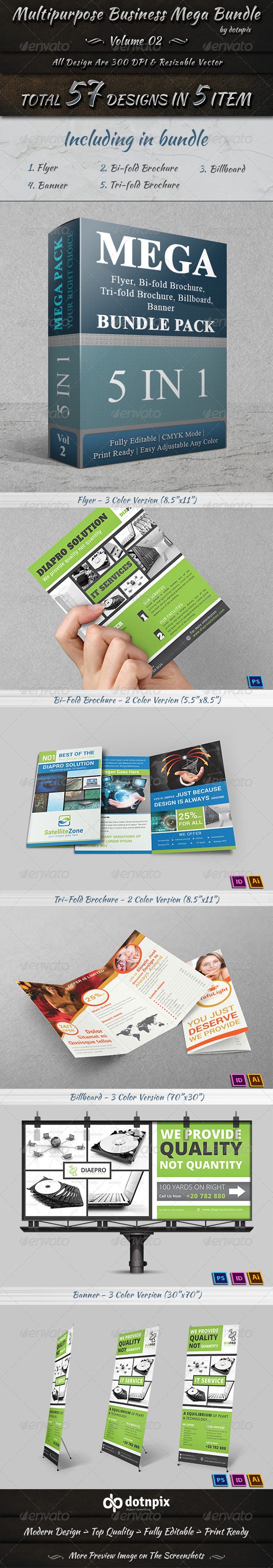 GraphicRiver Multipurpose Business Mega Bundle Volume 2 7689175