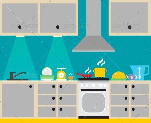 GraphicRiver Kitchen Interior Poster 7690197