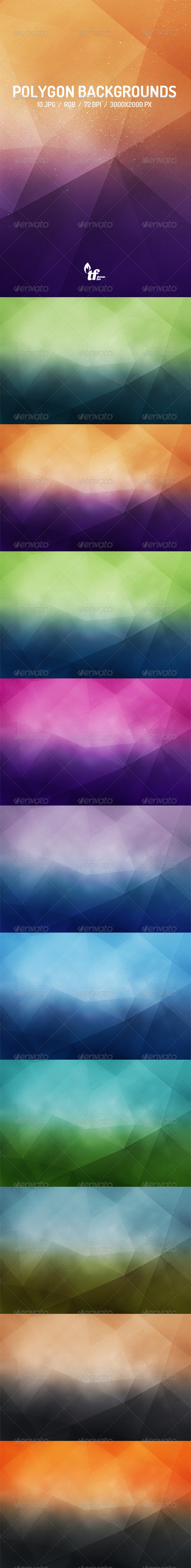 GraphicRiver 10 Polygon Backgrounds 7690224