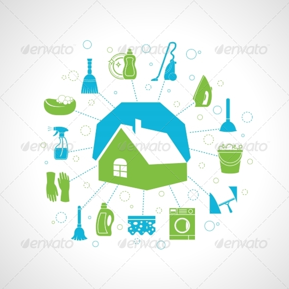 GraphicRiver House Cleaning Concept 7690498