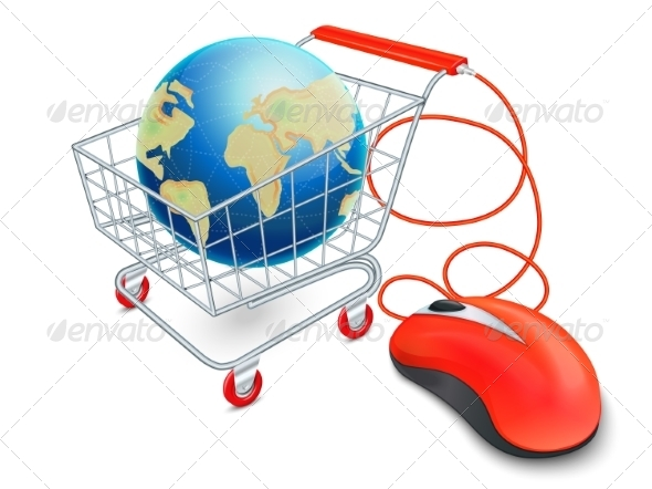 GraphicRiver Internet Shopping Cart Concept 7690603