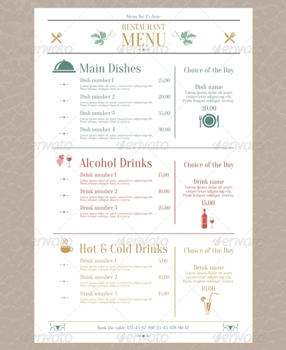 GraphicRiver Restaurant Menu Template 7690765