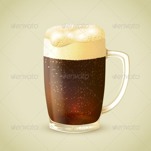 GraphicRiver Mug of Dark Beer Emblem 7691114