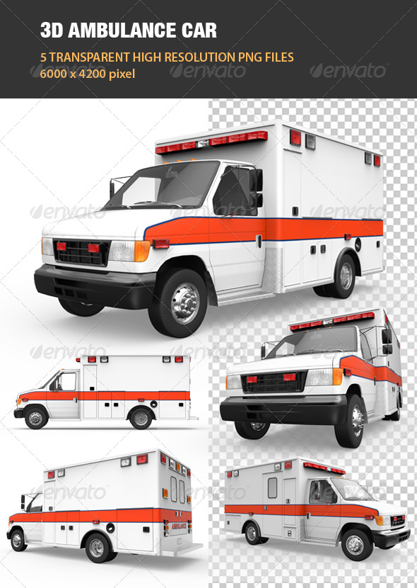 GraphicRiver 3D Ambulance Car 7691437