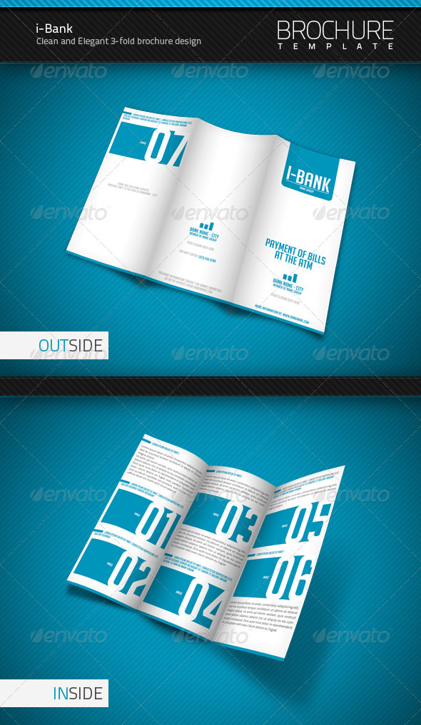 i-Bank 3-Fold Brochure Template - Corporate Brochures