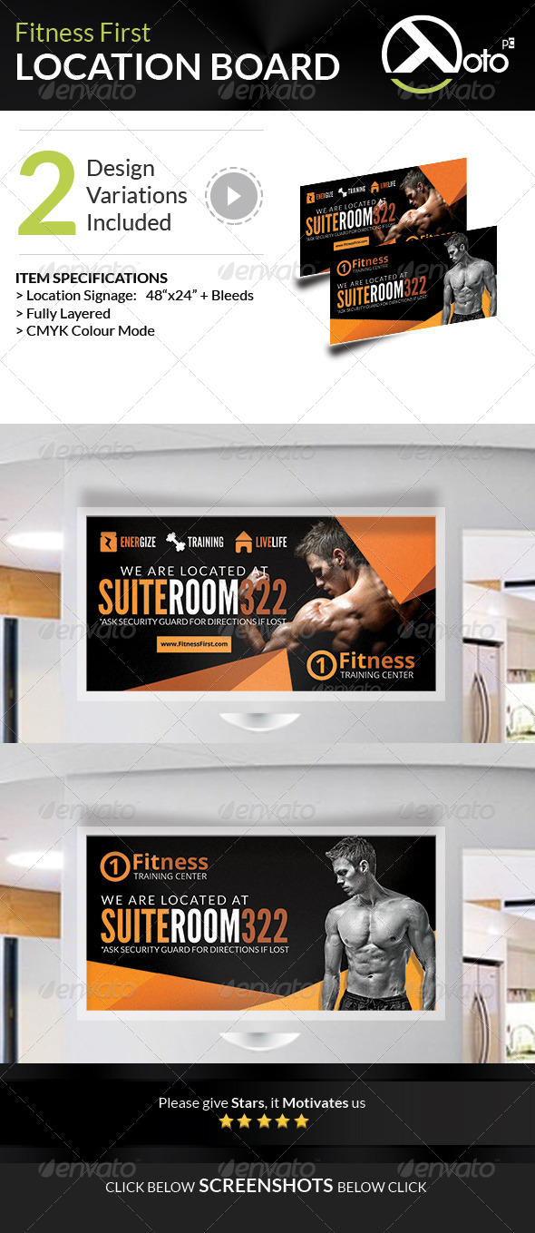 GraphicRiver First Fitness Body Weight Training Location Board 7692437