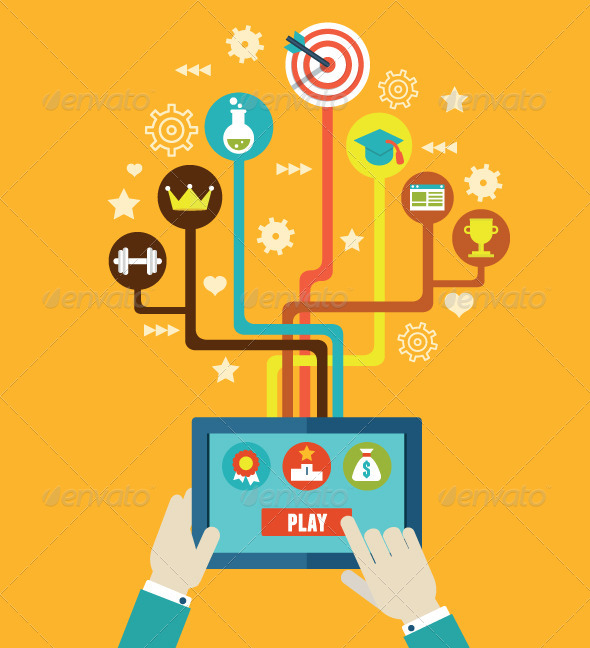 GraphicRiver Concept Management of Business by Gamification 7692624