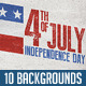 July 4th Backgrounds/ Cards - GraphicRiver Item for Sale