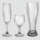 Set of Transparent Glass Goblets - GraphicRiver Item for Sale