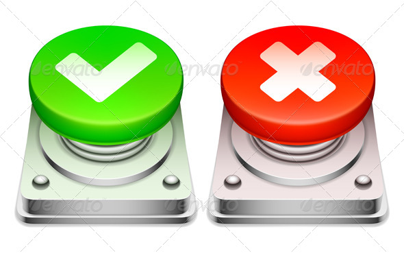 GraphicRiver Red and Green Buttons 7694025