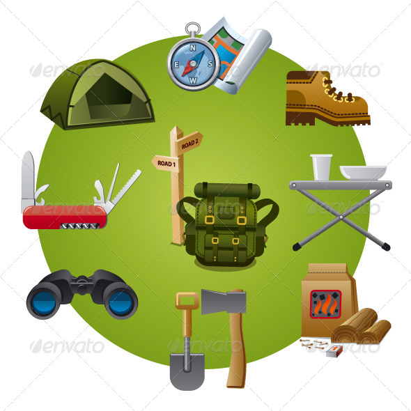 GraphicRiver Tourism Equipment Icon 7694650