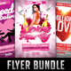 Pink Love Hearts Valentines Flyer Bundle - GraphicRiver Item for Sale
