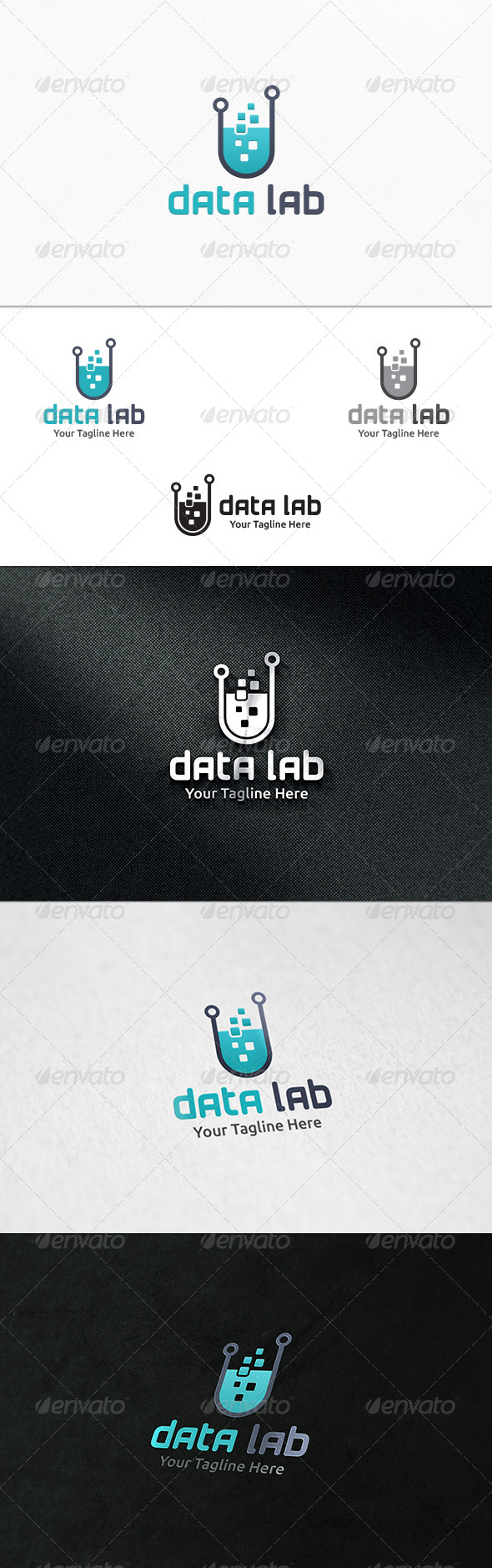 GraphicRiver Data Lab Logo Template 7696075