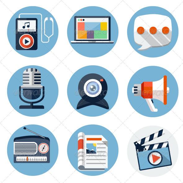 GraphicRiver Media Icons 7697863