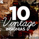 10 Vintage Insignias - GraphicRiver Item for Sale