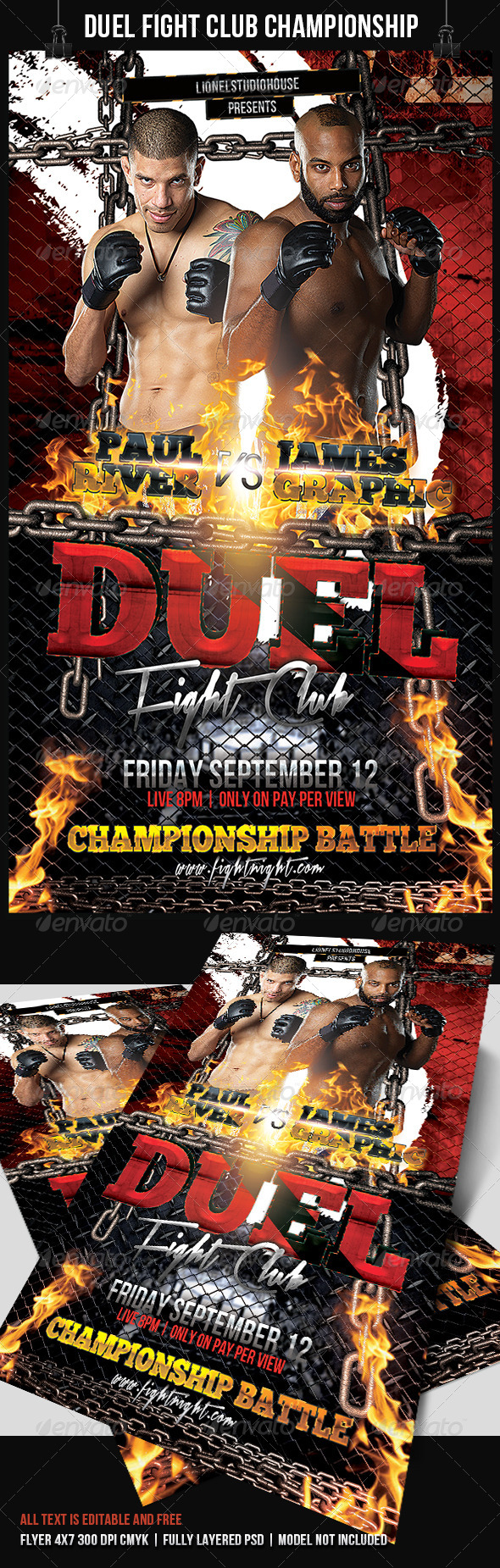 GraphicRiver Duel Fight Club Championship Battle 7677746