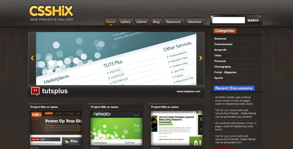 ThemeForest CssHix Css Showcase Gallery 32730