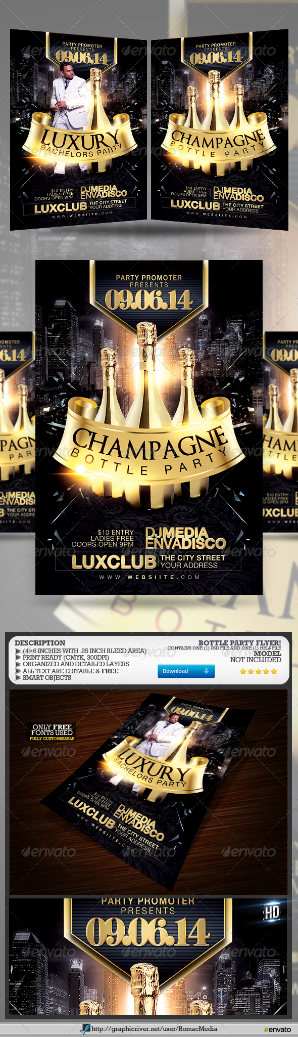 GraphicRiver Bottle Party 7675180