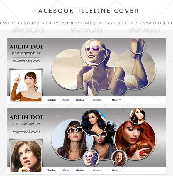 GraphicRiver Photography Timeline Cover 7699845