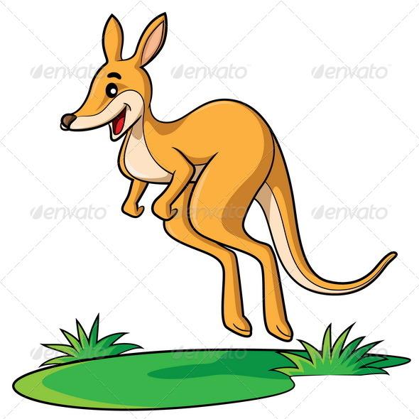 GraphicRiver Kangaroo Cartoon 7700476