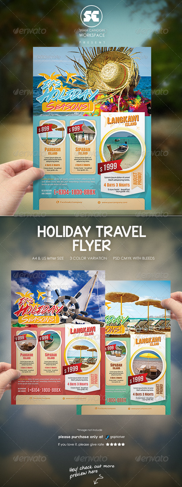 GraphicRiver Holiday Travel Flyer Magazine Ads 7701420