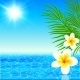 Summer Sea with Palms and Flowers - GraphicRiver Item for Sale