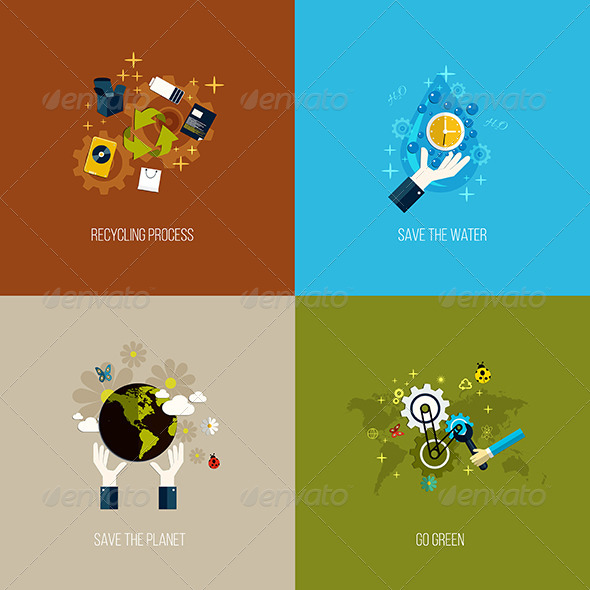 GraphicRiver Icons Concept- Flat Design 7661815