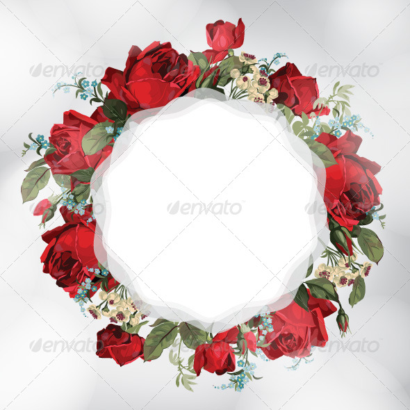 GraphicRiver Card with Roses 7704836