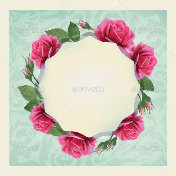 GraphicRiver Roses Card 7704895
