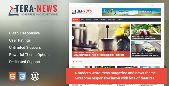 ThemeForest TeraNews Responsive WordPress Magazine Theme 7705892