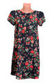 Black female dress in red flower on manikene. - PhotoDune Item for Sale