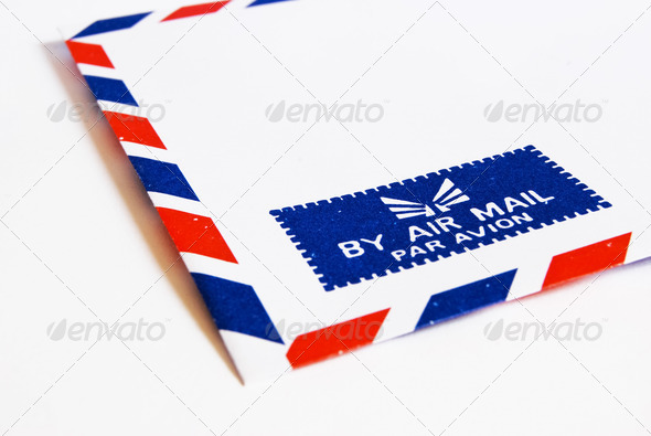 classic air mail envelope - Stock Photo - Images