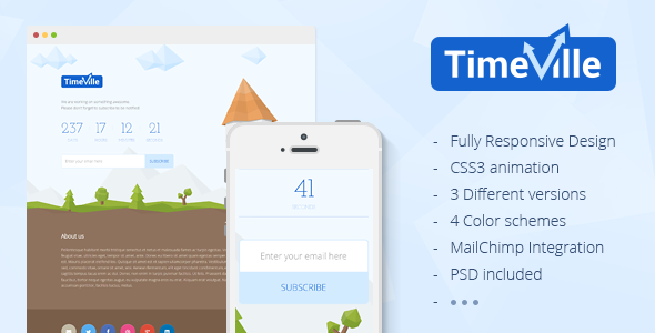 ThemeForest TimeVille Coming Soon Page 7706925