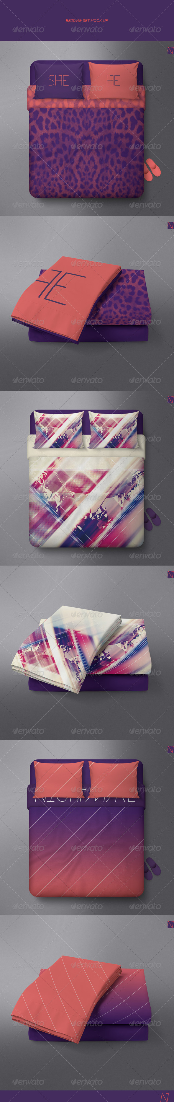 GraphicRiver Bedclothes Mock-up 7707031