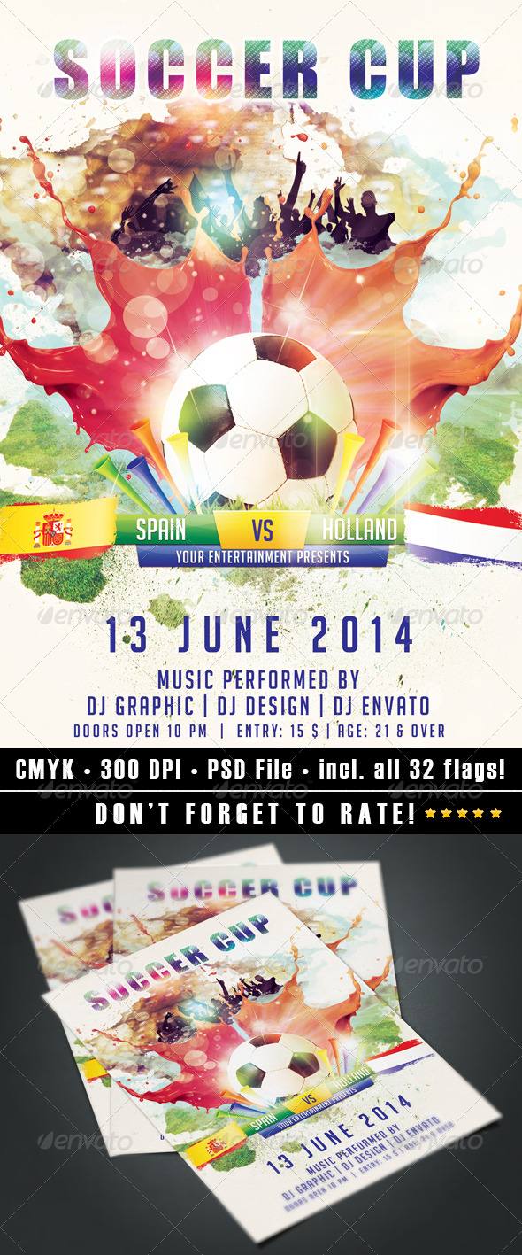 GraphicRiver Soccer Cup flyer 7684921