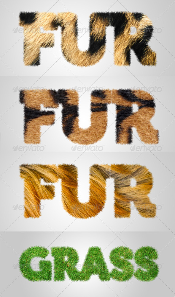 GraphicRiver Furry Grassy Text Effect Action 7707717