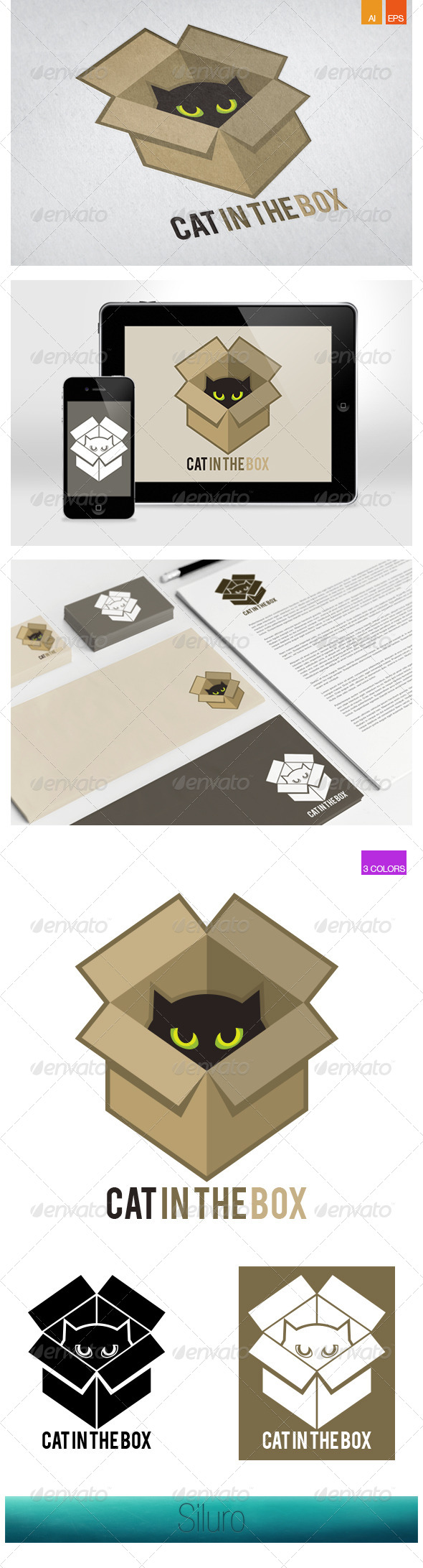 GraphicRiver Cat in the Box Logo 7707791
