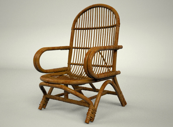3DOcean Simple Rattan Chair 7708003