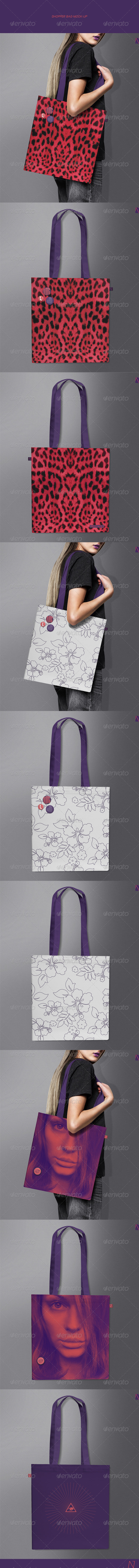 GraphicRiver Shopper Bag Mock-up 7708193