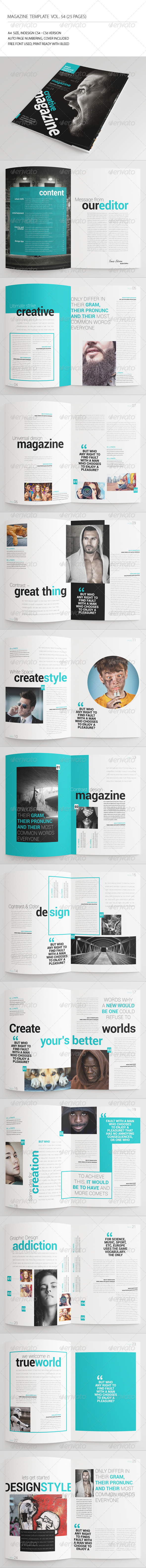 GraphicRiver 25 Pages Universal Magazine Vol54 7708580