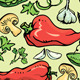Set of Seamless Patterns with Vegetables - GraphicRiver Item for Sale