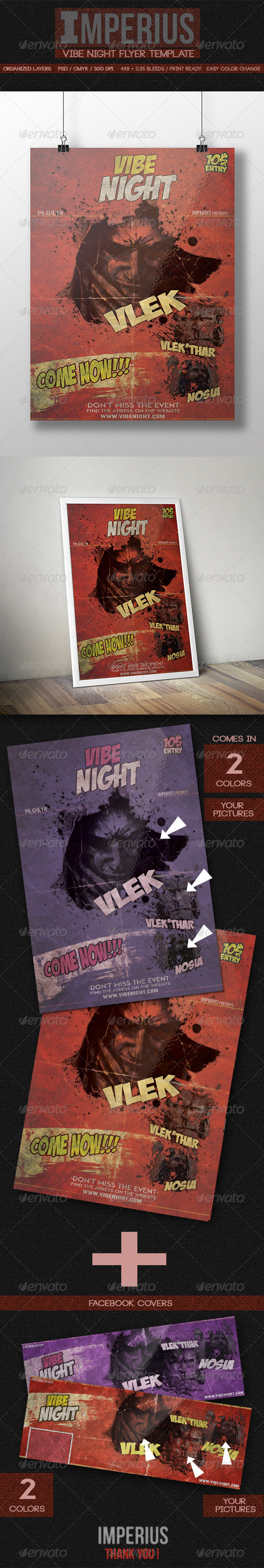 GraphicRiver Vibe Night Flyer 7711799