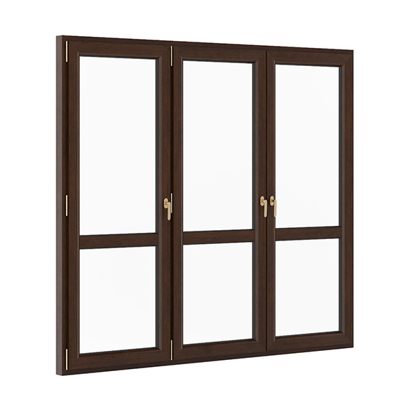 3DOcean Wooden Window 2580mm x 2300mm 7712178