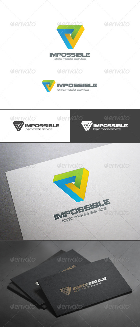 GraphicRiver Impossible Triangle Logo Abstract Logic Rebus 7712334