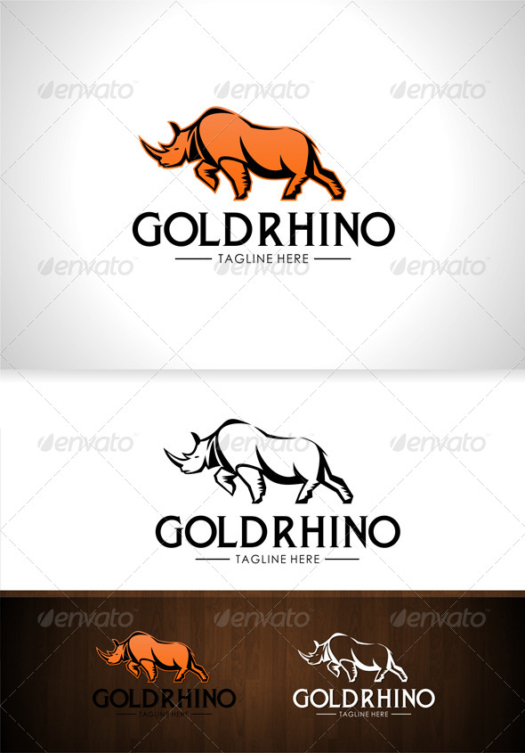 GraphicRiver Gold Rhino Logo 7712347