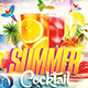 Summer Cocktail Party Flyer Template  - GraphicRiver Item for Sale