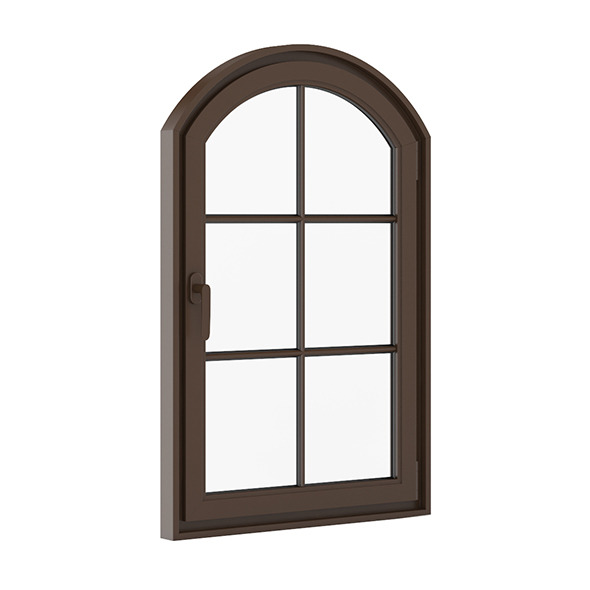 3DOcean Brown Metal Window 940mm x 1440mm 7712534